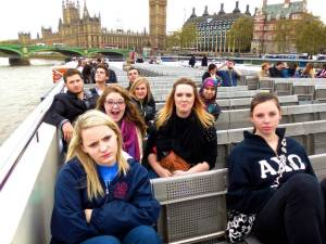 Part of the group on the boat tour
