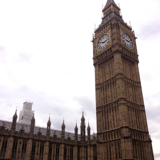 My first sight of Big Ben as I popped my head out of the tube stop.